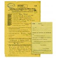 Exemptions paperwork