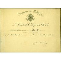 Albert's certificate for his Croix de Guerre
