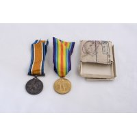 Elizabeth's British War and Victory Medals in original envelopes