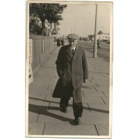 Grandpa, in retirement on a daytrip to Skegness