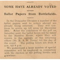 Article about voting from the battlefields