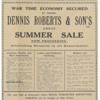 Dennis Roberts Summer Sale
