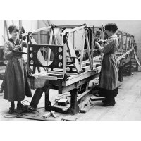 Women workers at an aircraft factory