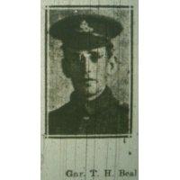 Thomas Henry Beal Gnr  RGA.