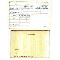 Charles Henry Butterfield's Medal Card