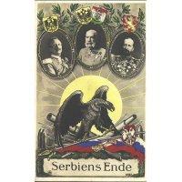 Serbiens Ende postcard